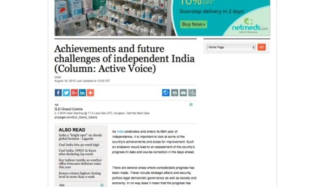 Achievements and future challenges of independent India