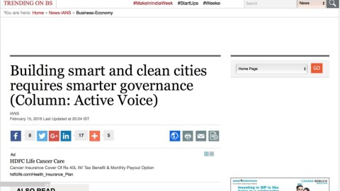 Building smart and clean cities requires smarter governance