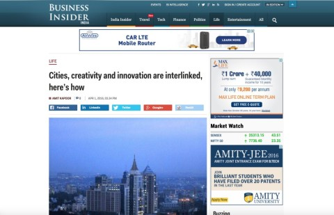 Cities, Creativity and Innovation are Interlinked, Here's how