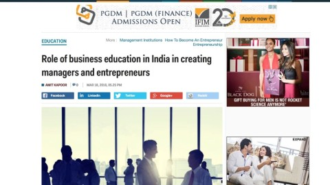 Role of Business Education in India in Creating Managers and Entrepreneurs