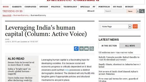 Leveraging India's Human Capital