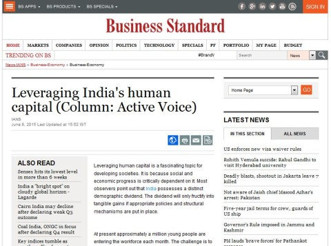 Leveraging India's Human Capital