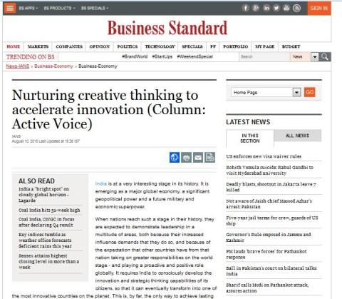 Nurturing creative thinking to accelerate Innovation