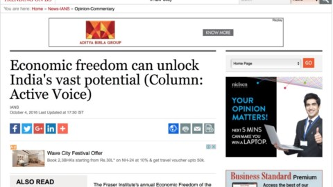 Economic freedom can unlock India's vast potential