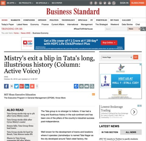 Mistry's exit a blip in Tata's long, illustrious history