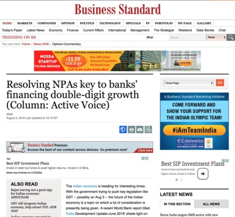 Resolving NPAs key to banks' financing double-digit growth