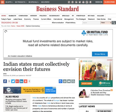 Indian states must collectively envision their futures