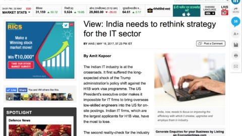 India needs to rethink strategy for the IT sector