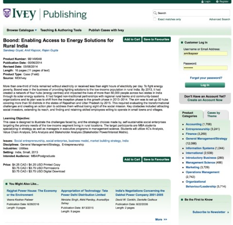 Boond: Enabling access to energy solutions for the rural India (Ivey Publishing)