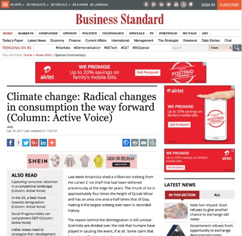 Consumption: The Real Villain of Climate Change