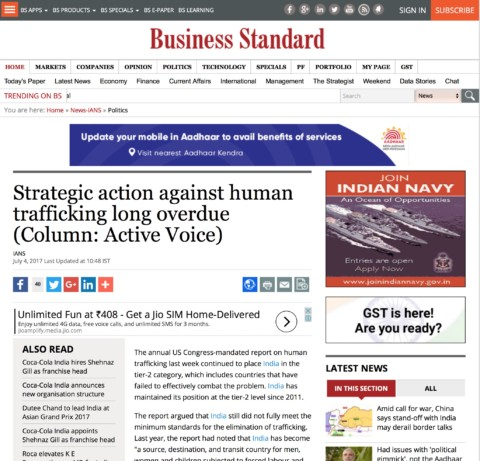 Strategic action against human trafficking long overdue