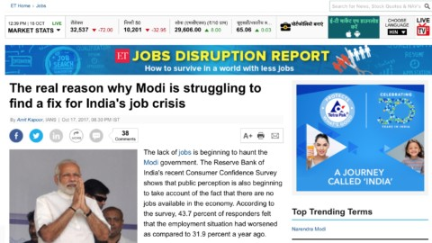 The real reason why Modi is struggling to find a fix for India's job crises