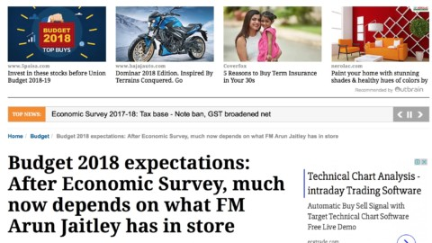 Budget 2018 expectations: After Economic Survey, much now depends on what FM Arun Jaitley has in store