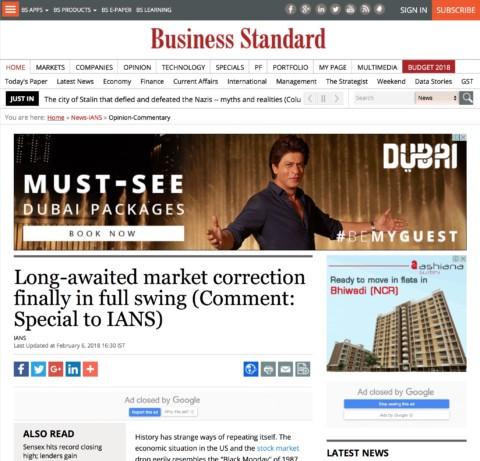 Long-awaited market correction finally in full swing