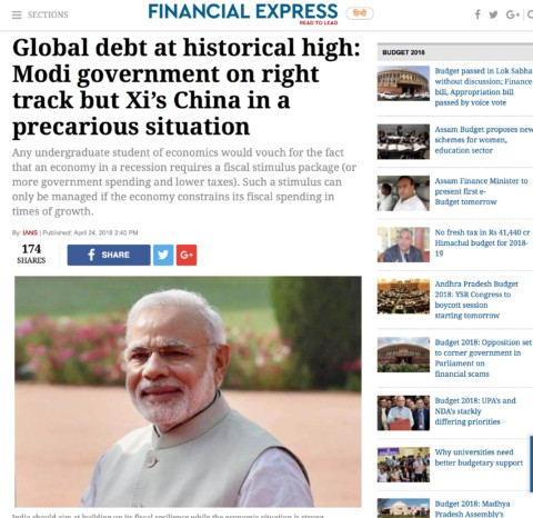 Global debt at historical high: Modi government on right track but Xi's China in a precarious situation