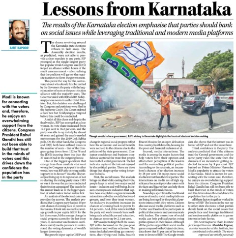 Lessons from Karnataka