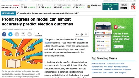 Probit regression model can almost accurately predict election outcomes