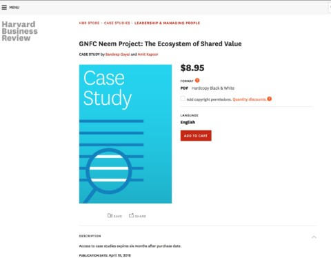 GNFC Neem Project: The Ecosystem of Shared Value (Harvard Business Review)