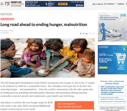 Long road ahead to ending hunger, malnutrition