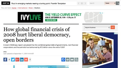 How global financial crisis of 2008 hurt liberal democracy, open borders