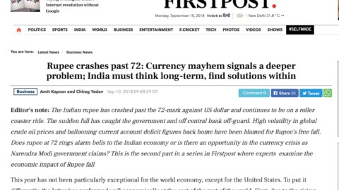 Rupee crashes past 72: Currency mayhem signals a deeper problem; India must think long-term, find solutions within