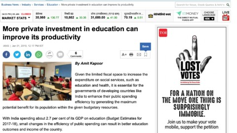 More private investment in education can improve its productivity