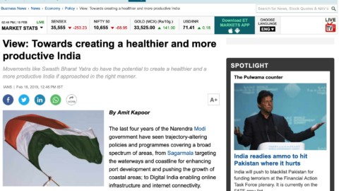 Towards creating a healthier and more productive India