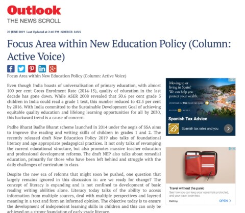 Focus Area within New Education Policy
