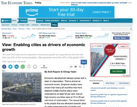 Enabling Cities as Drivers of Economic Growth