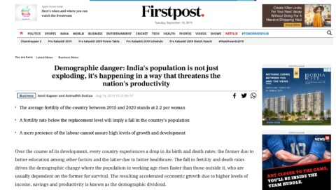 Demographic danger: India's population is not just exploding, it's happening in a way that threatens the nation's productivity