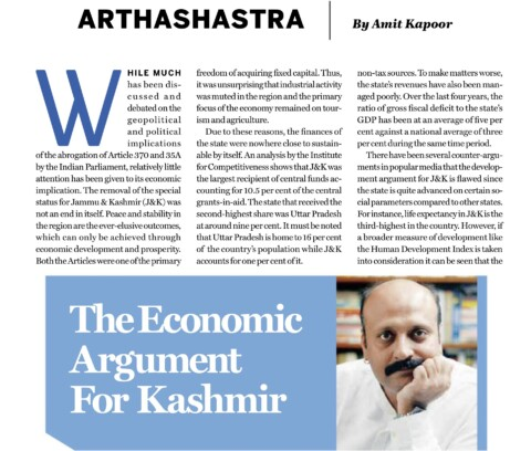 The Economic Argument for Kashmir
