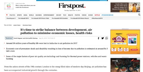 It's time to strike balance between development, air pollution to minimise economic losses, health risks