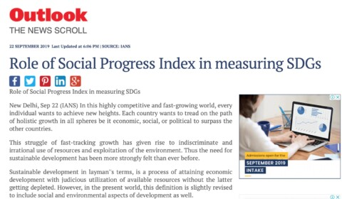 Role of Social Progress Index in measuring SDGs