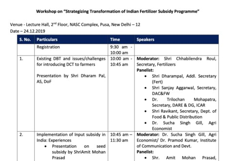 Strategizing Transformation of Indian Fertilizer Subsidy Program
