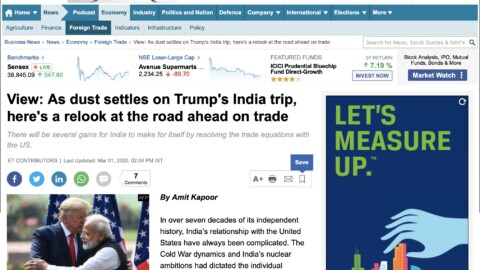 As dust settles on Trump's India trip, here's a relook at the road ahead on trade